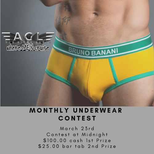 Monthly Underwear Contest - Hosted by Mr. San Diego Eagle 2019 - Myles